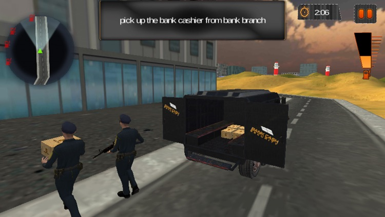Cash Transit Bank Security Van