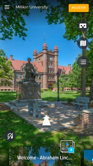 Millikin University Campus Map.Millikin University In Vr On The App Store