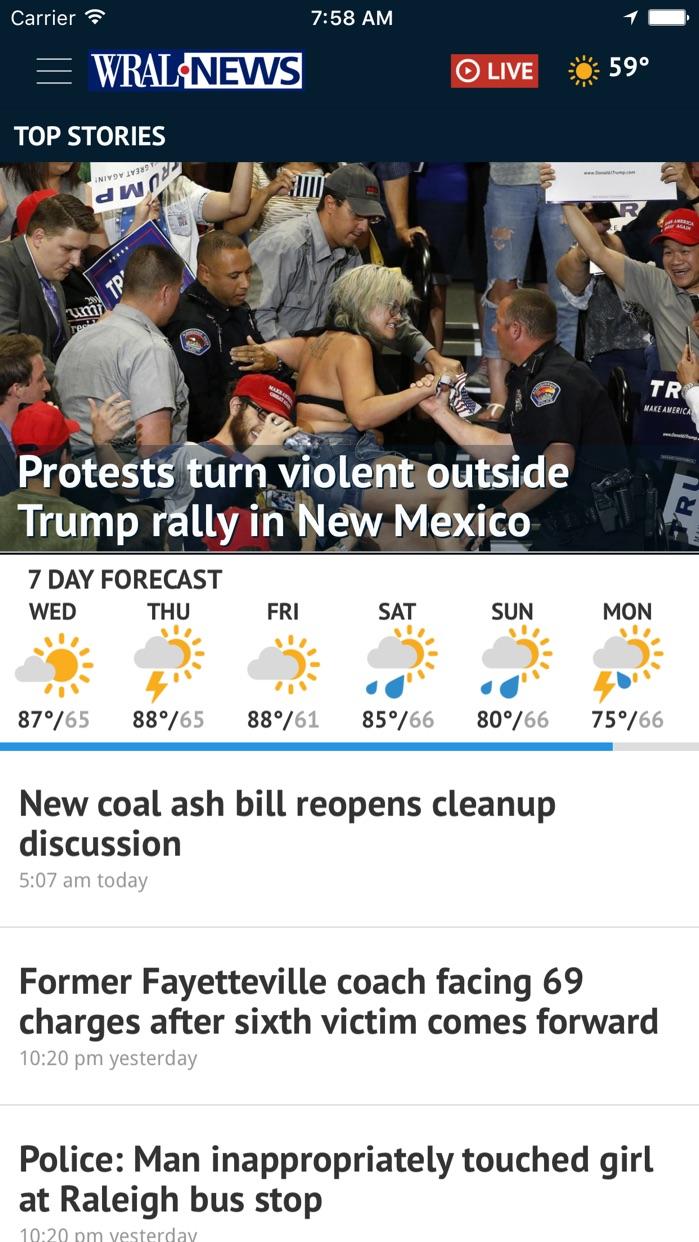 WRAL News Mobile Screenshot