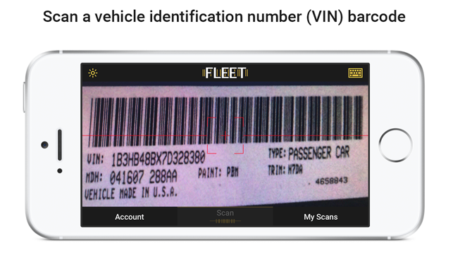 Vin Number Scanner >> Fleet Vin Scan And Manage On The App Store