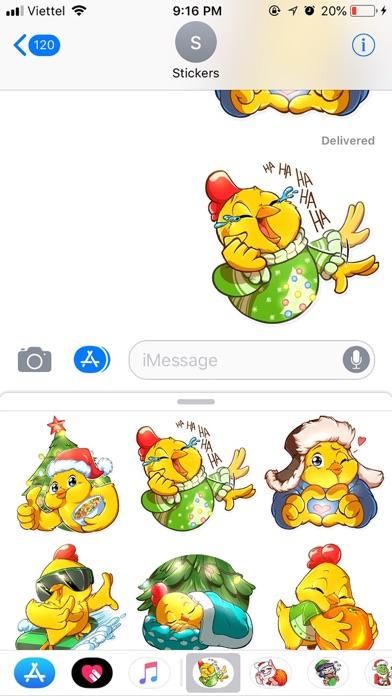 Christmas Chicken Chuu Sticker screenshot 3