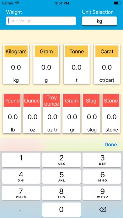 Screenshot for Weight Units Converter in United States App Store