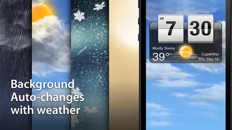 Weather Clock - Alarm & Weather Forecast screenshot-4