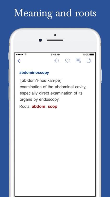 Medical Roots Dictionary screenshot-3