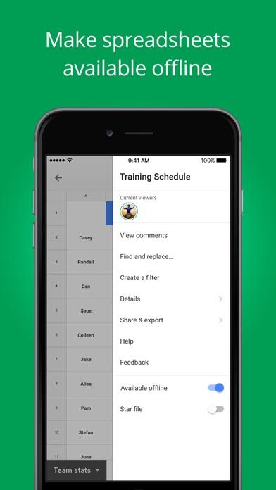 download Google Feuilles de calcul apps 0