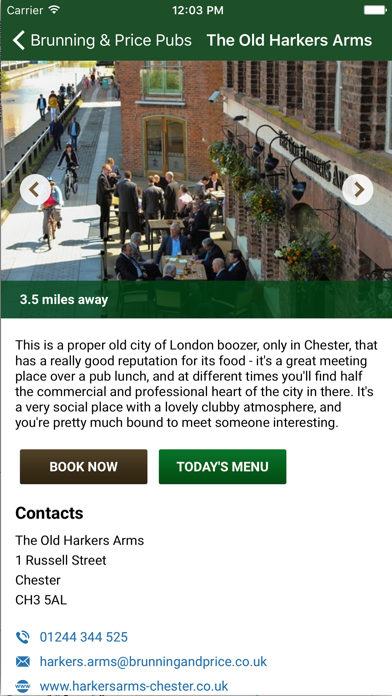 Brunning & Price Pub App screenshot two