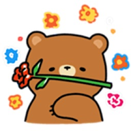 Cute And Lazy Bear Sticker
