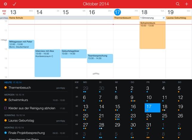 Fantastical 2 für iPad Screenshot