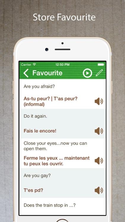 Learn French Phrasebook Pro + screenshot-3