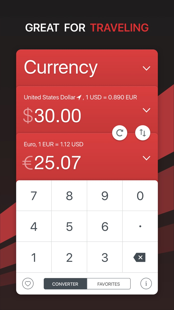 GlobeConvert Currency & Units Screenshot