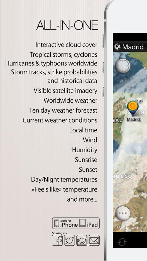 Cyclone - storm tracks, satellite weather radar App 截图