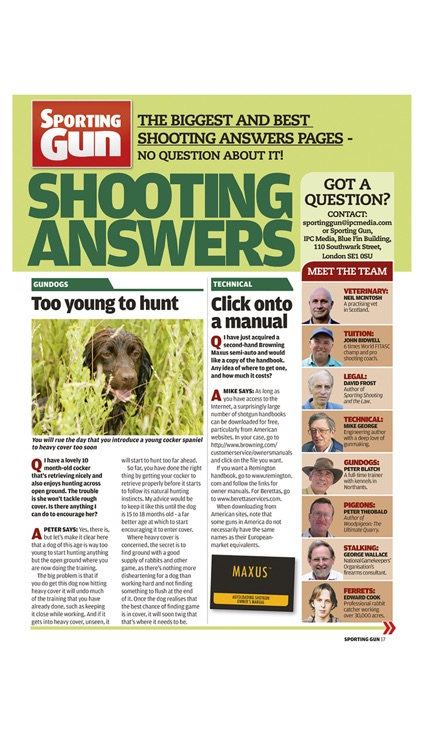 Sporting Gun Magazine INT