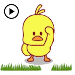 Animated Cute Chicken Sticker