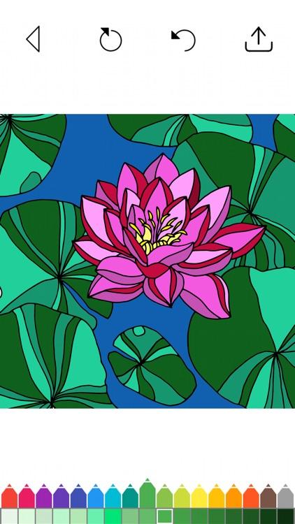 Flower Coloring Book Games screenshot-4