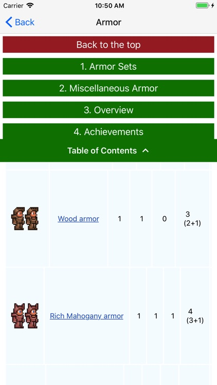 Mobile Wiki for Terraria