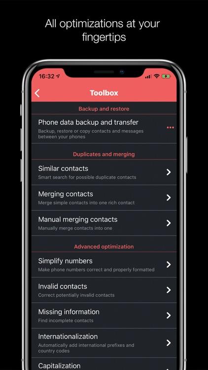 Contacts Optimizer Pro screenshot-3