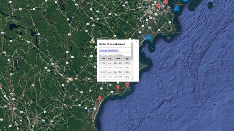 Maine Tide Chart & Weather
