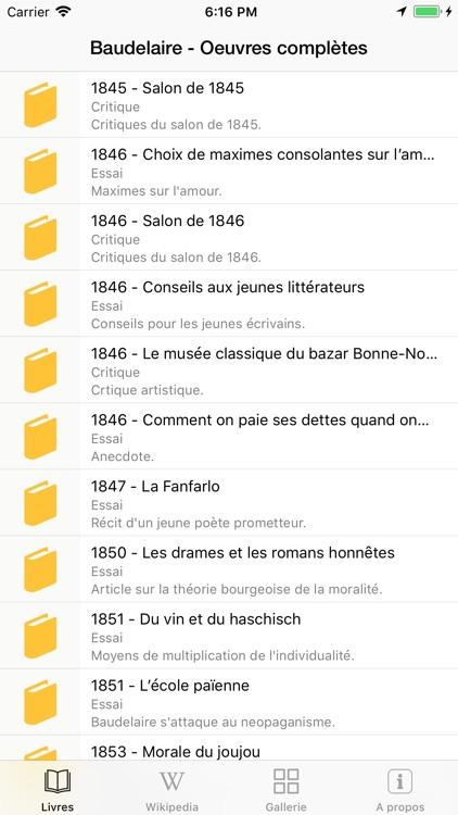 Baudelaire  Oeuvres complètes screenshot-0