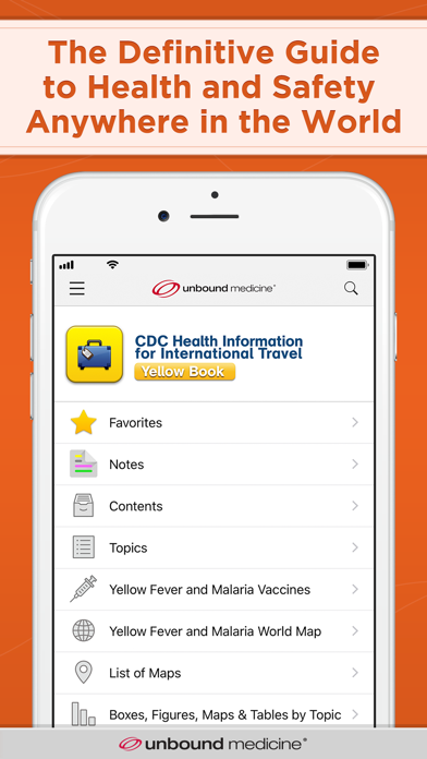 CDC Yellow Book screenshot 1