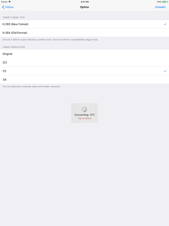 H 265 : H 264 Cross Converter   App Price Drops