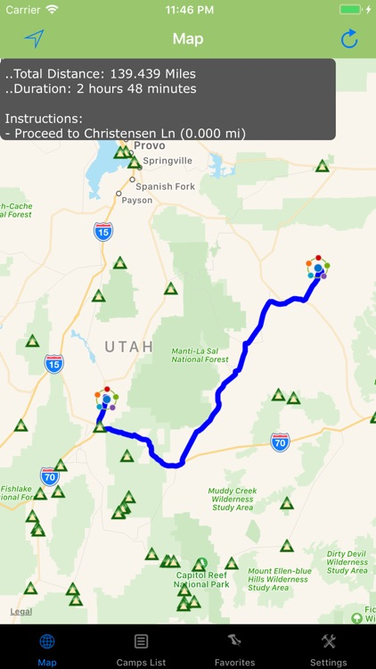 Utah – Camping & RV spots screenshot-3