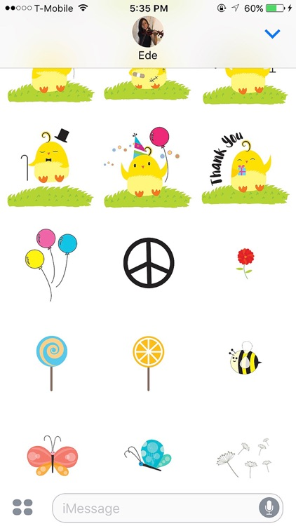Cute Ming Cheep Stickers screenshot-4