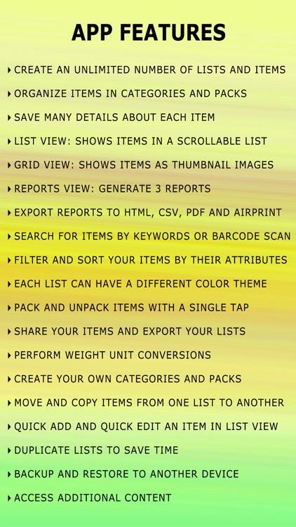 Gear Inventory - Hike & Travel screenshot-4