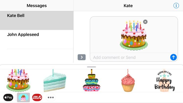 Happy Birthday Cake Stickers screenshot-3