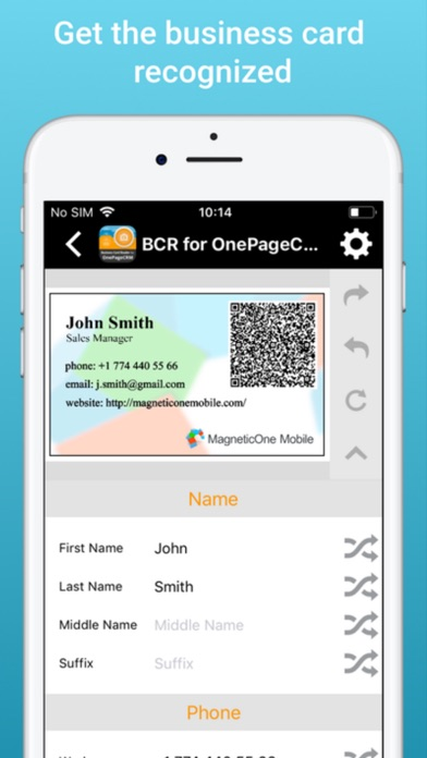 Biz card reader for onepagecrm app price drops screenshot 9 for biz card reader for onepagecrm reheart Choice Image