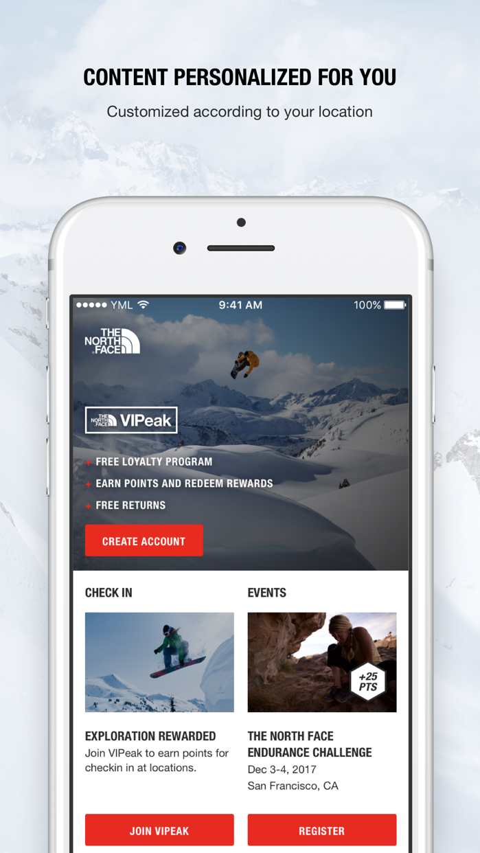 The North Face Screenshot