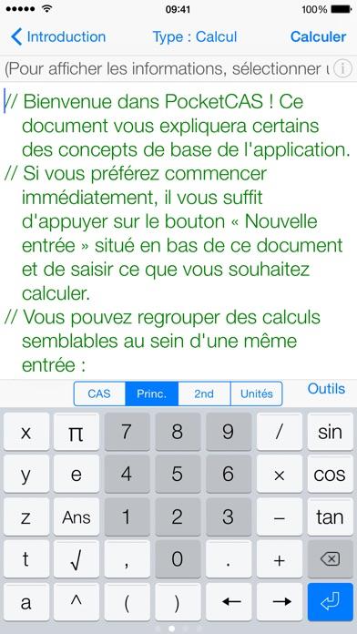 Screenshot #3 pour Mathématiques avec PocketCAS
