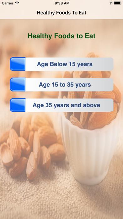 Healthy Foods To Eat screenshot one