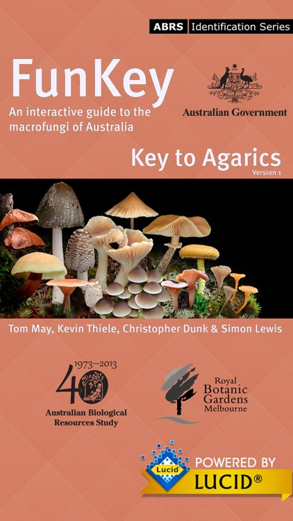 FunKey: Key to Agarics of Australia screenshot-0