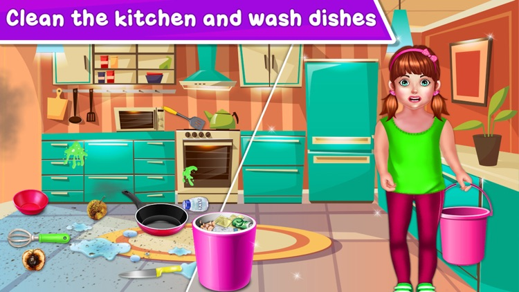 Baby Girl Home Cleaning screenshot-3