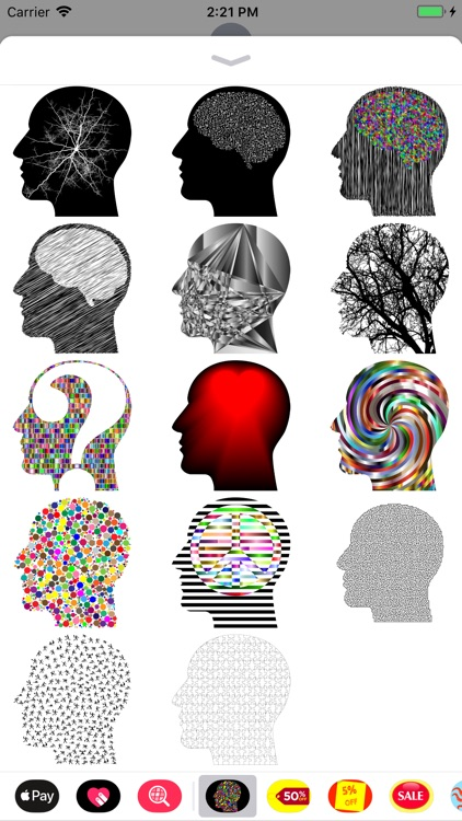Cranial Abstract Art Stickers