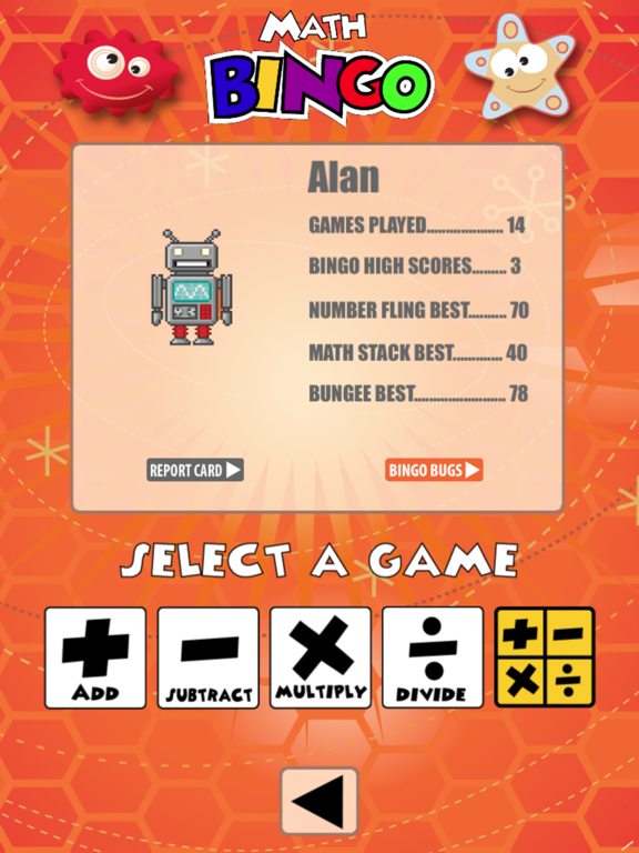 Math Bingo screenshot