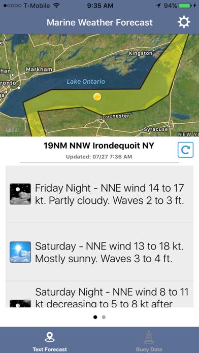 Lake Ontario Boating Weather Screenshot