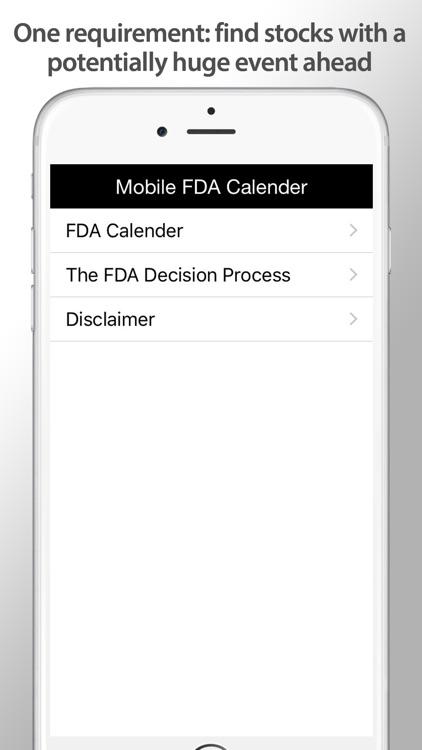 Biotech Stocks FDA Calendar screenshot-3
