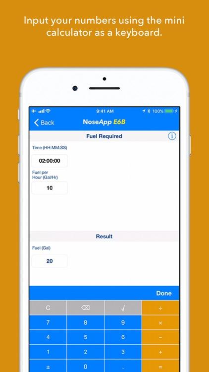 NoseApp E6B