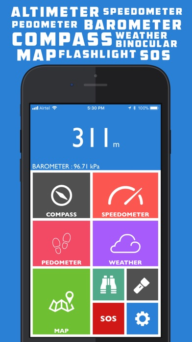 Altimeter GPS Pro- Hike & Trek Screenshots