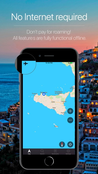 Screenshot for Sicily, Italy Navigation in Peru App Store