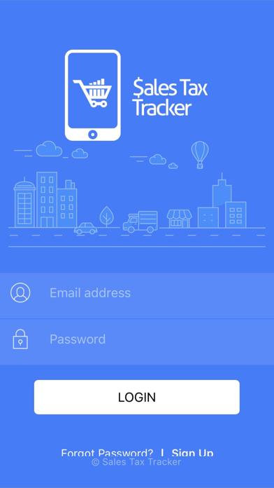 Sales Tax Tracker app
