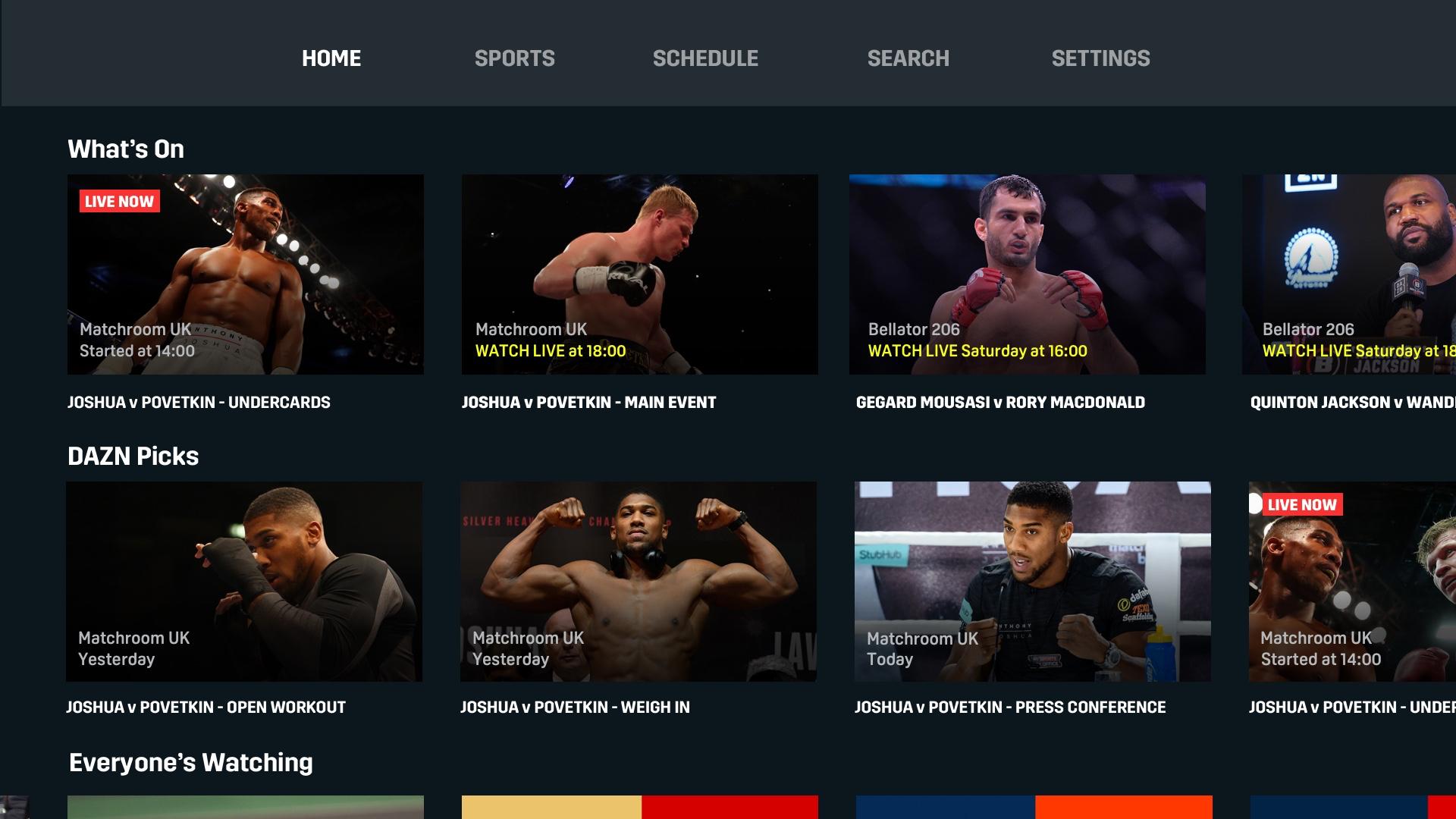 DAZN: Live Sports Streaming screenshot 13