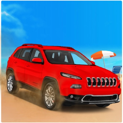 Beach SUV jeep Stunts Driving ios app
