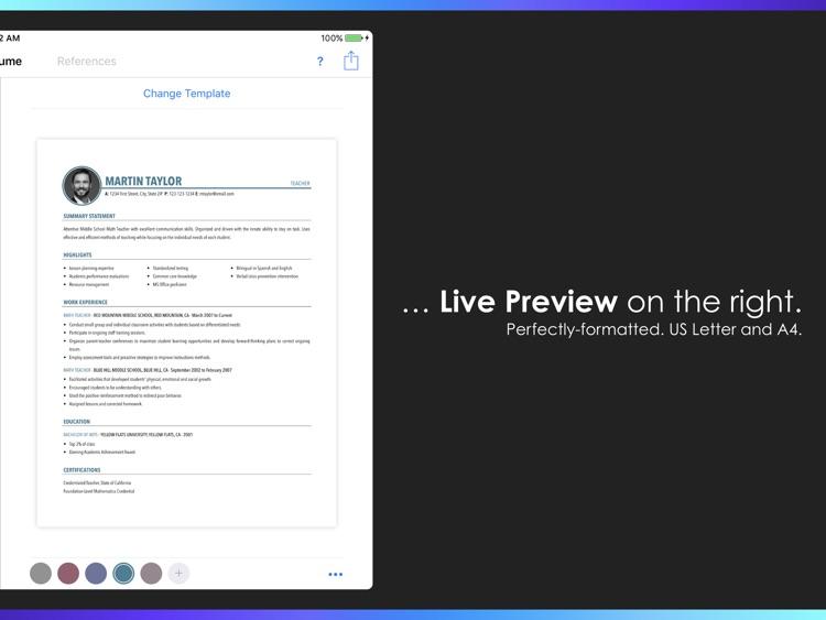 Resumes by Nobody - Resume Builder, 25 Templates screenshot-3