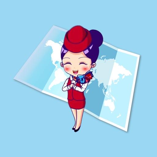 Flight Attendants First Class Stickers