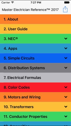 2017 master electrician ref on the app store screenshots keyboard keysfo Gallery