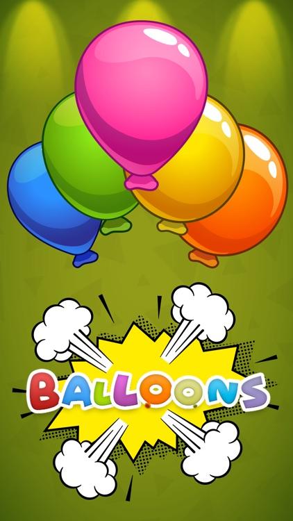 Balloon Pop games for kids screenshot-3