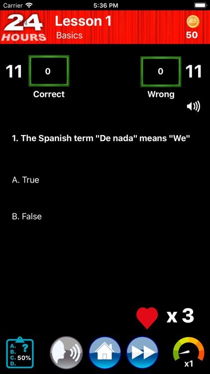 In 24 Hours Learn Spanish + screenshot-3