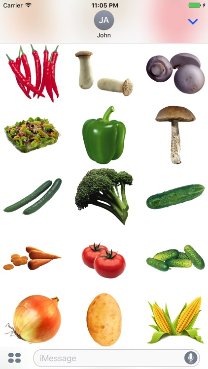 Vegetables Stickers for iMessage